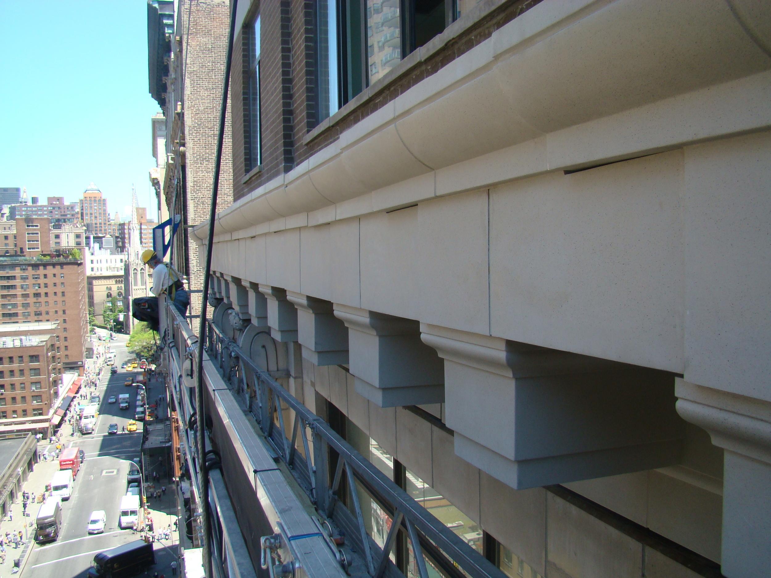 GFRC cornice install