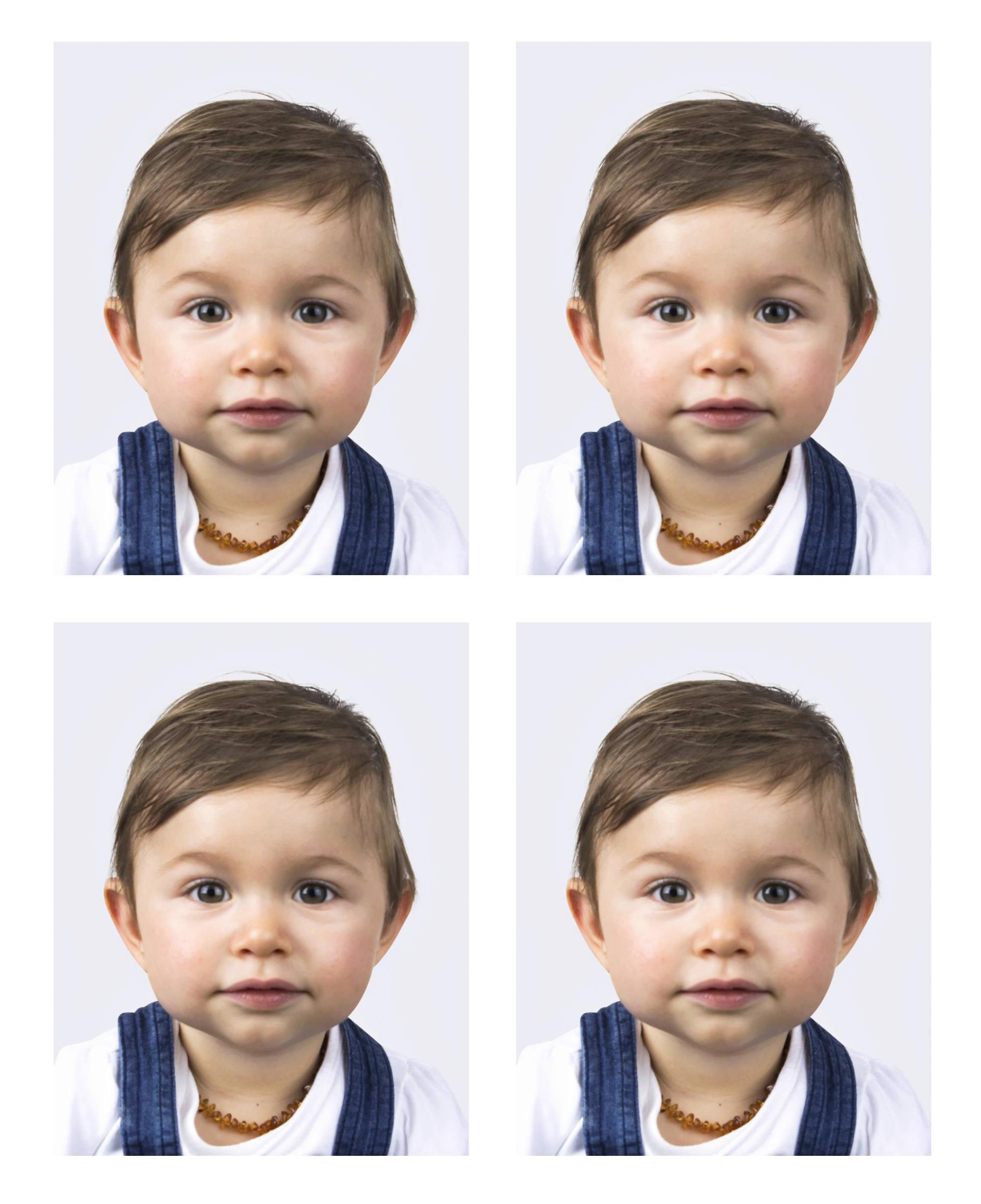 Photos passeport enfant, Belgique, France, Europe