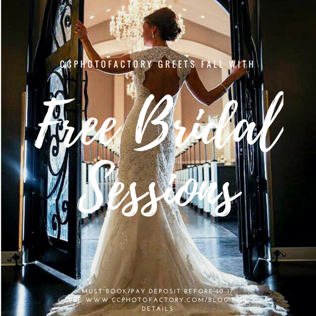 **These are 90 minute sessions that take place on NON Wedding days (No Friday, Saturday, or Sunday Sessions available during peak season). To receive free bridal session, you must book, sign your contract, and pay your deposit on or before October 17, 2017 @ 11:59pm CST. I try to get a pretty wide variety of images, but I do not provide props. Please bring anything you plan on wearing or carrying on your wedding day. You get to choose your location, and there are no travel fees for sessions booked in Austin, San Antonio, Dallas, or Houston. .The session must take place at minimum 30 days before your wedding to receive any digital files for printing.**      -Caity C. | Owner and Lead Photographer