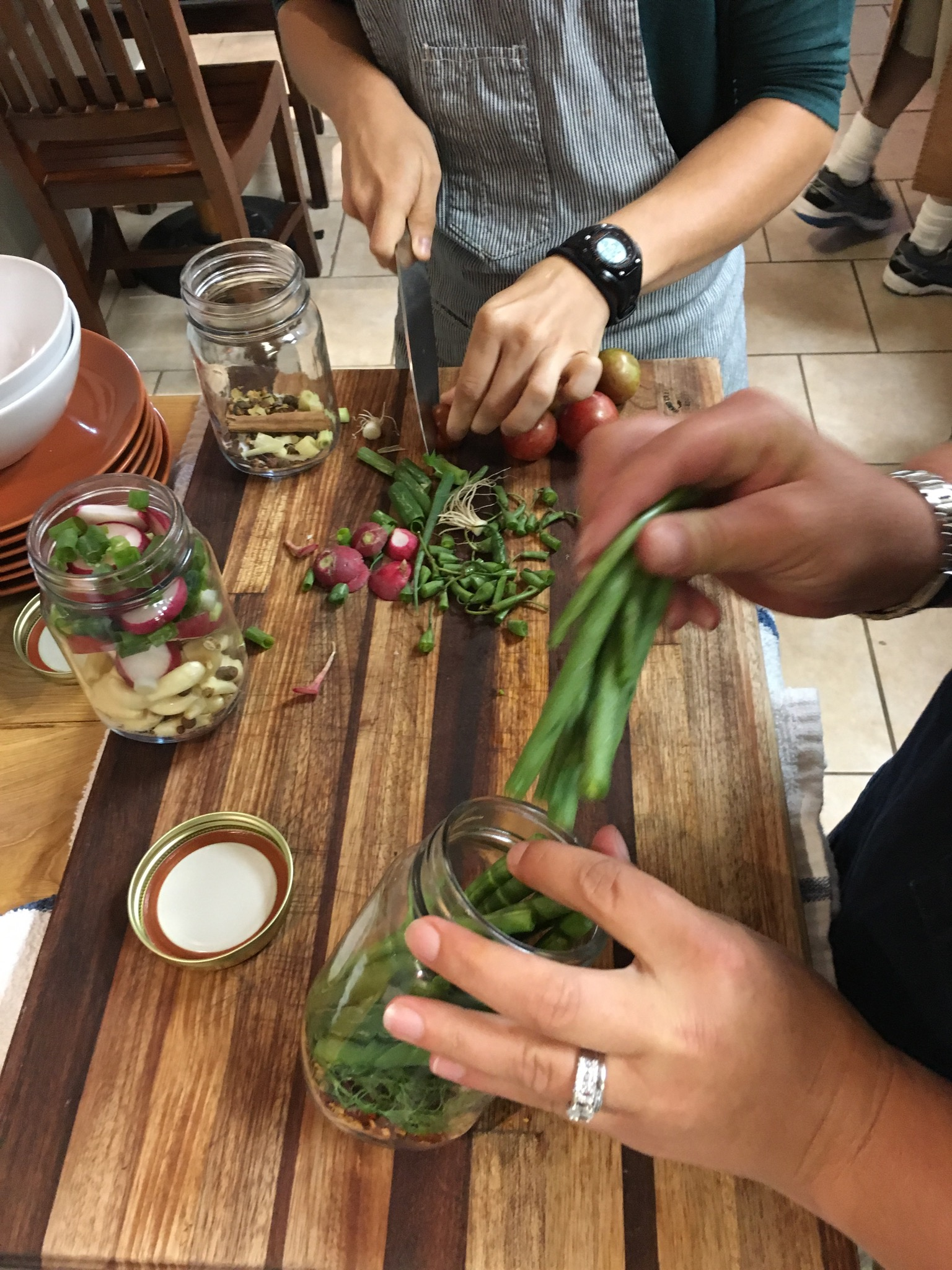 get hands-on in the kitchen - Our private cooking classes are designed with you in mind. We can cover a wide range of topics - from mastering specific techniques to anchoring the cooking basics to international flavors.Classes are led by CheFarmer Matthew and Food Alchemist Jovan.