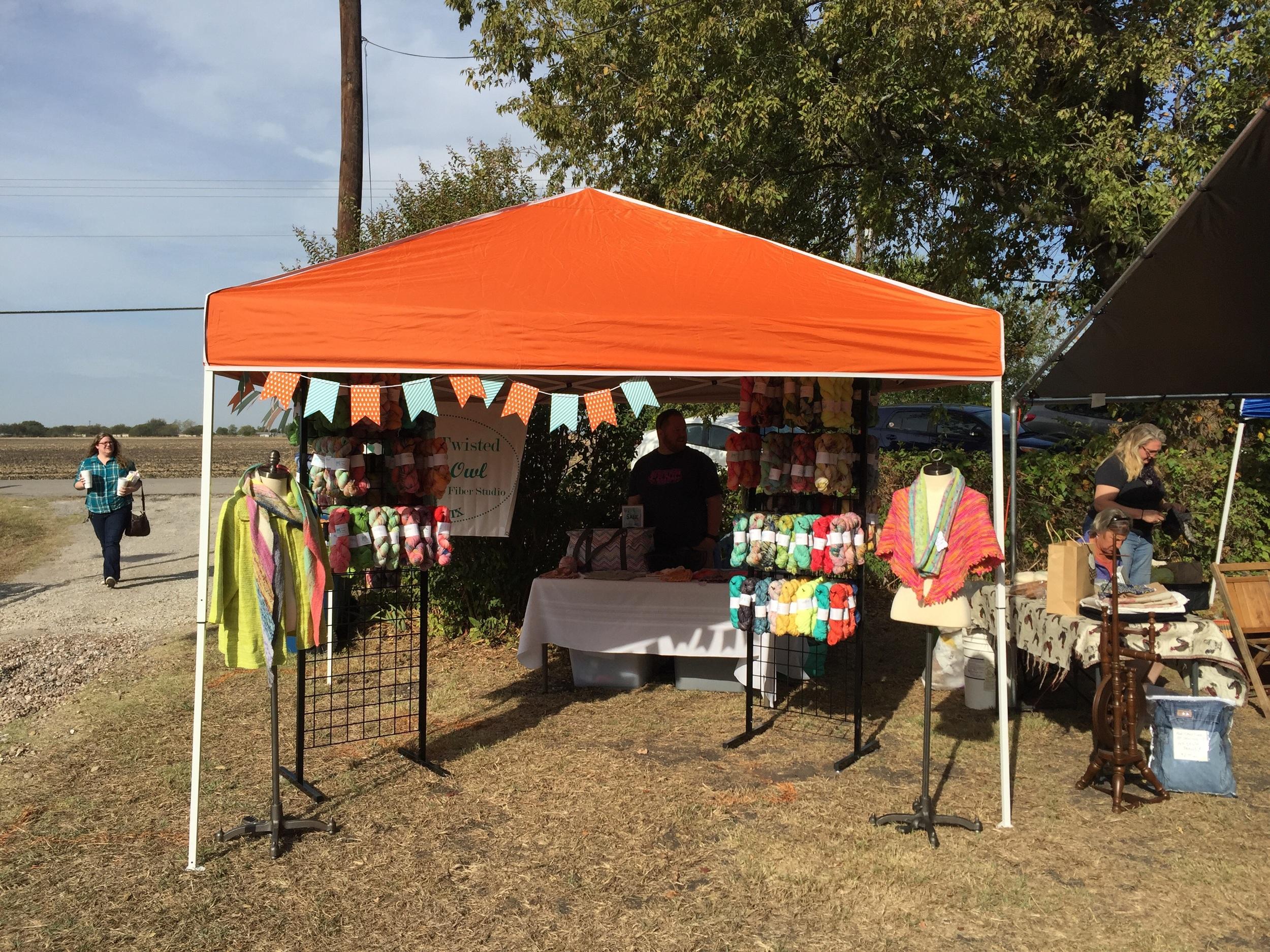 Our big orange tent!!