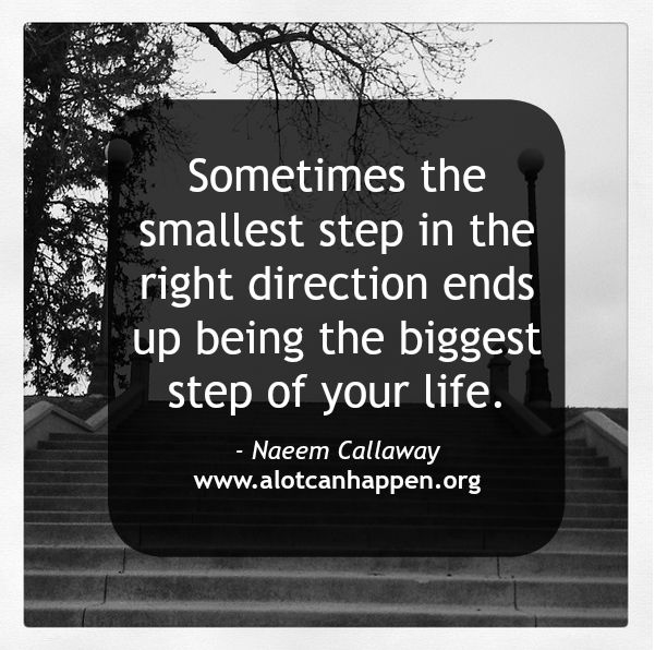 The Smallest Step in the Right Direction