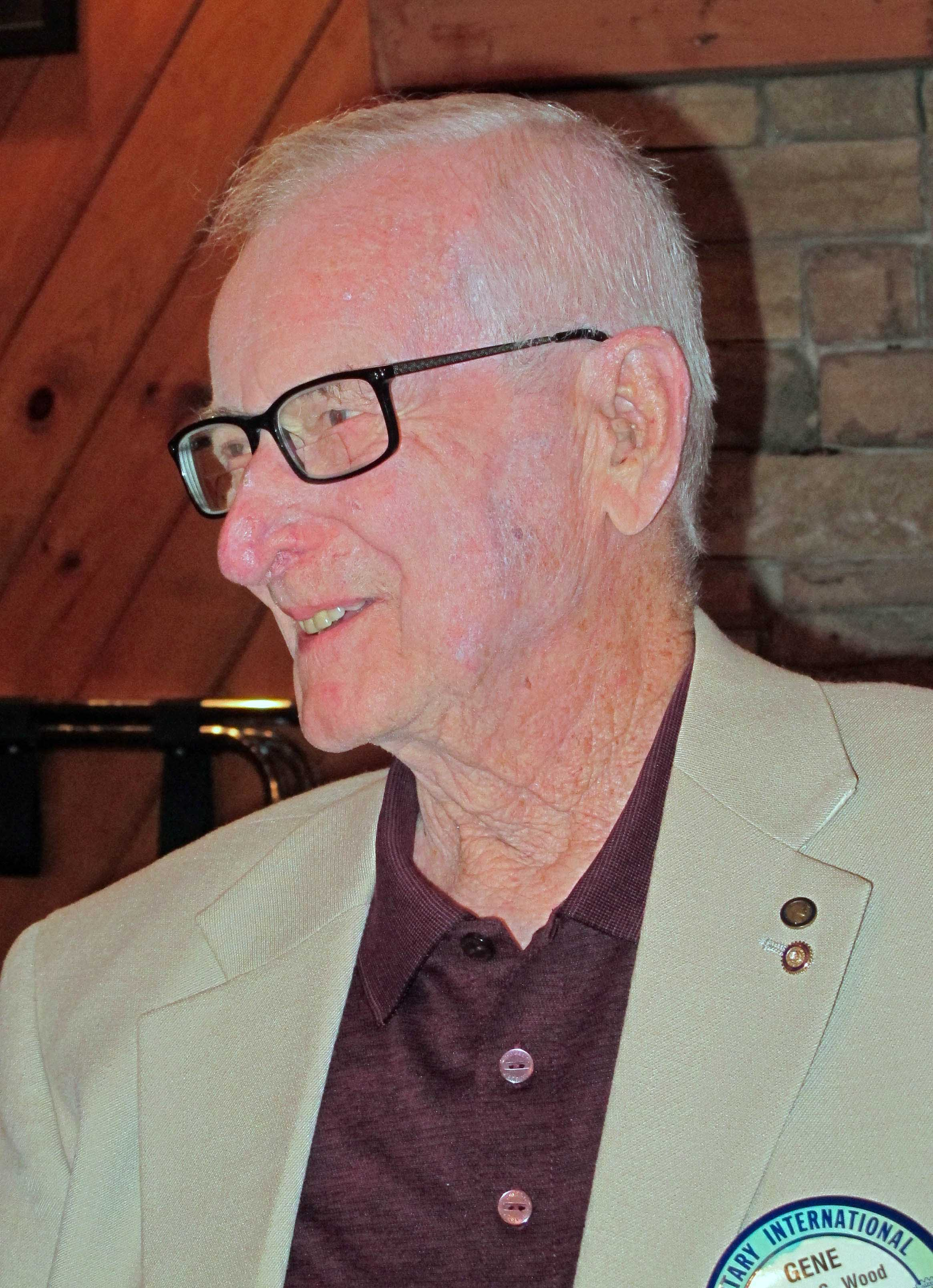 Gene Wood celebrating 49 years as a Rotarian