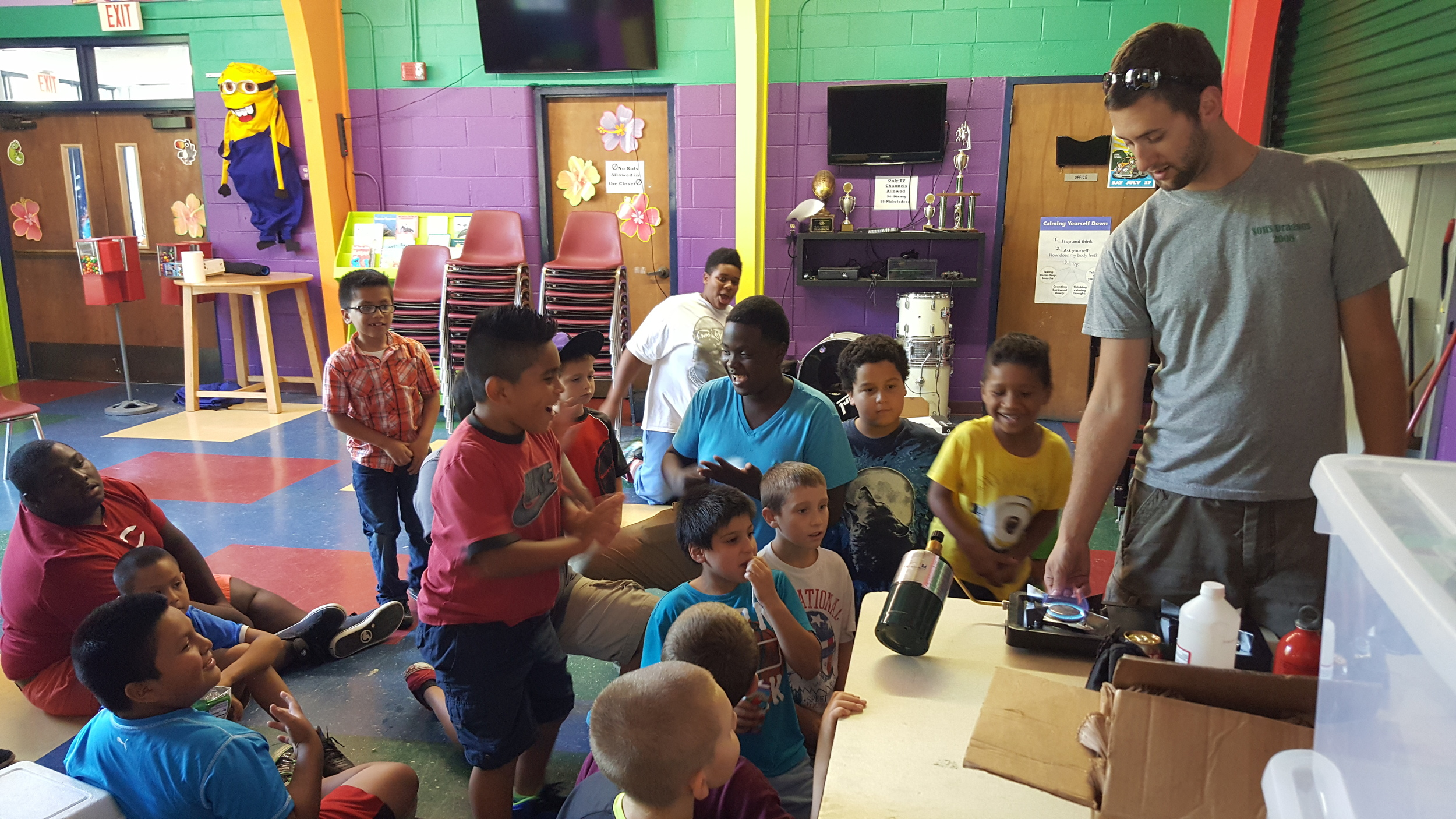 The boys at Powers seem pretty excited about this camp stove!