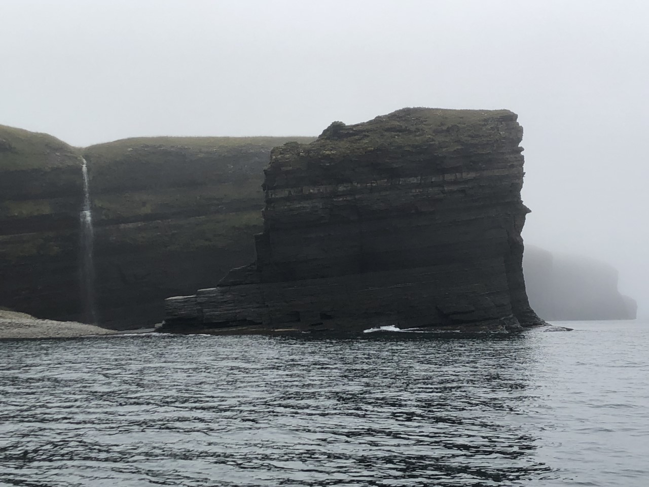 This is part of Bell Island where I went sea kayaking. There were amazing waterfalls and caves!
