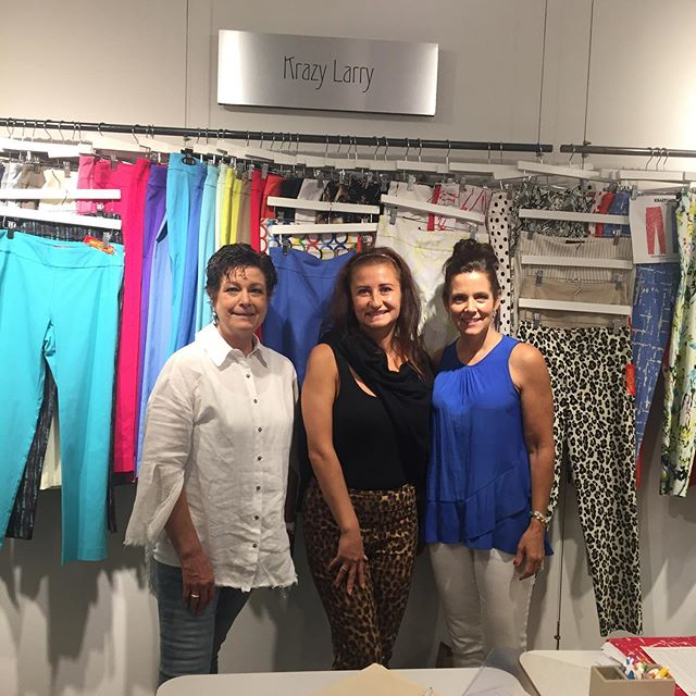 Love working with our vendors @krazylarrynyc at market! Bought some beautiful Krazy Larry pants today!! #krazylarry #americasmartatl #springpants #highcountrystyle #highcountrystylewaynesville #bestboutiqueever #shopsmall
