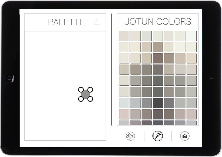 4. Drag the color from the color chart into the palette