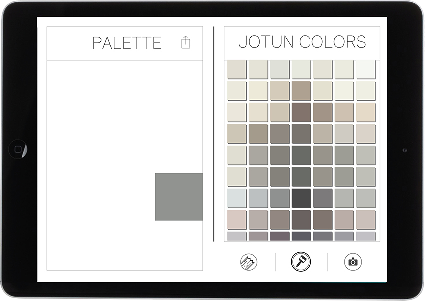 6. Tap to attach color in the palette