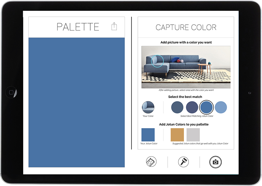 14. Select the color you think is most similar and drag into the palette