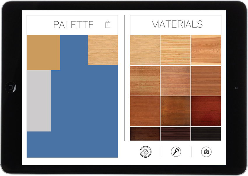 17. Drag the preferred material into the palette. Then press the download icon at the top of the palette when you are happy with your result