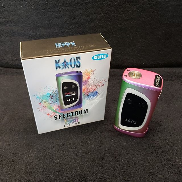 Construction Sale Special! Kaos Spectrum Holi Edition Box Mod $59.99. Limited Quantity, hurry in!  Https://sylvavapor.com  #sylva #cullowhee #wcu #vaping #sylavapor #vape #vapor #boxmod #wnc