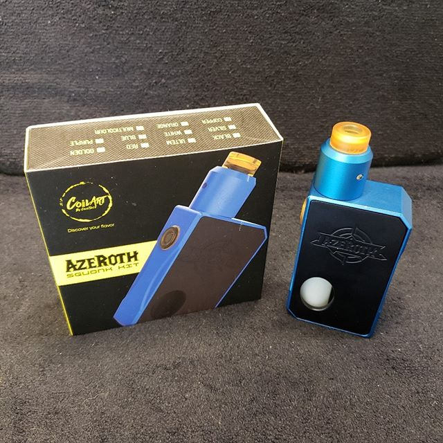 Construction Sale Special! Azeroth Squonk Kit $49.99 Limited Quantity, come in now!  Https://sylvavapor.com  #sylva #cullowhee #wcu #vaping #sylavapor #vape #vapor #kit #wnc #cherokee #brysoncity #dillsboro