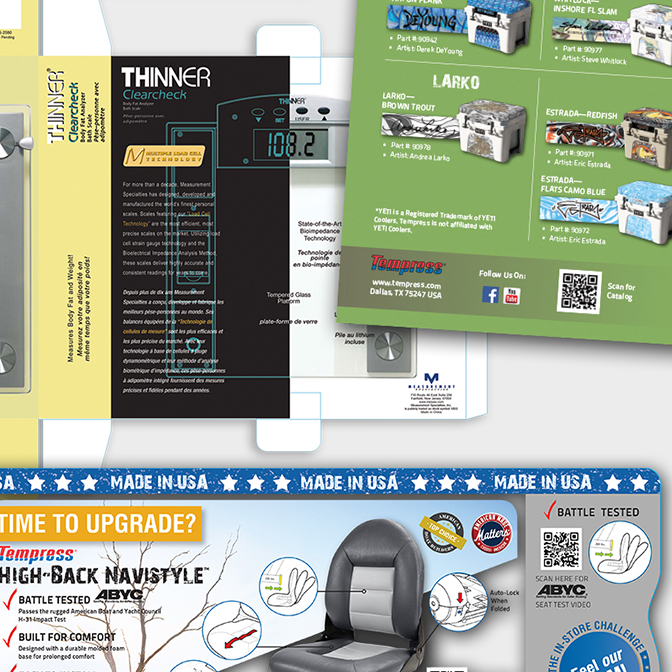 Packaging & Sell Sheets