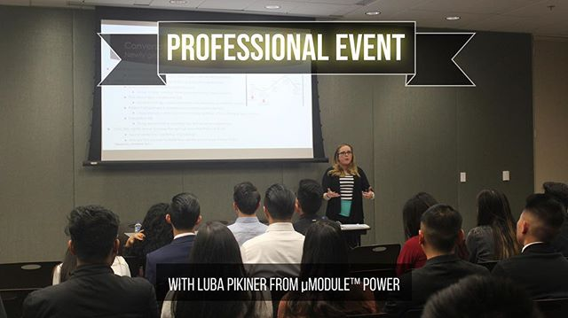 """Last week, we had our Professional Event with Luba Pikiner from µModule™ Power. Her story was phenomenal and the one thing that stuck with me was, """"We all hope for a """"fairy godmother"""" to shape up our future...but we are indeed the ones creating the magic..."""" (Nanna Pikiner, Mother)"""
