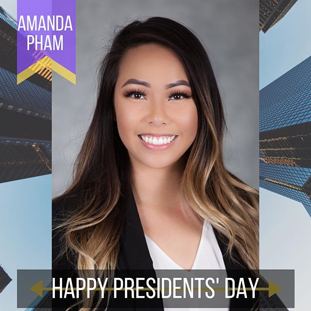 Happy Presidents' Day from our President to yours! If you don't already know, this is her second term as President! Thank you for all your hard work in improving our chapter! #twoterms
