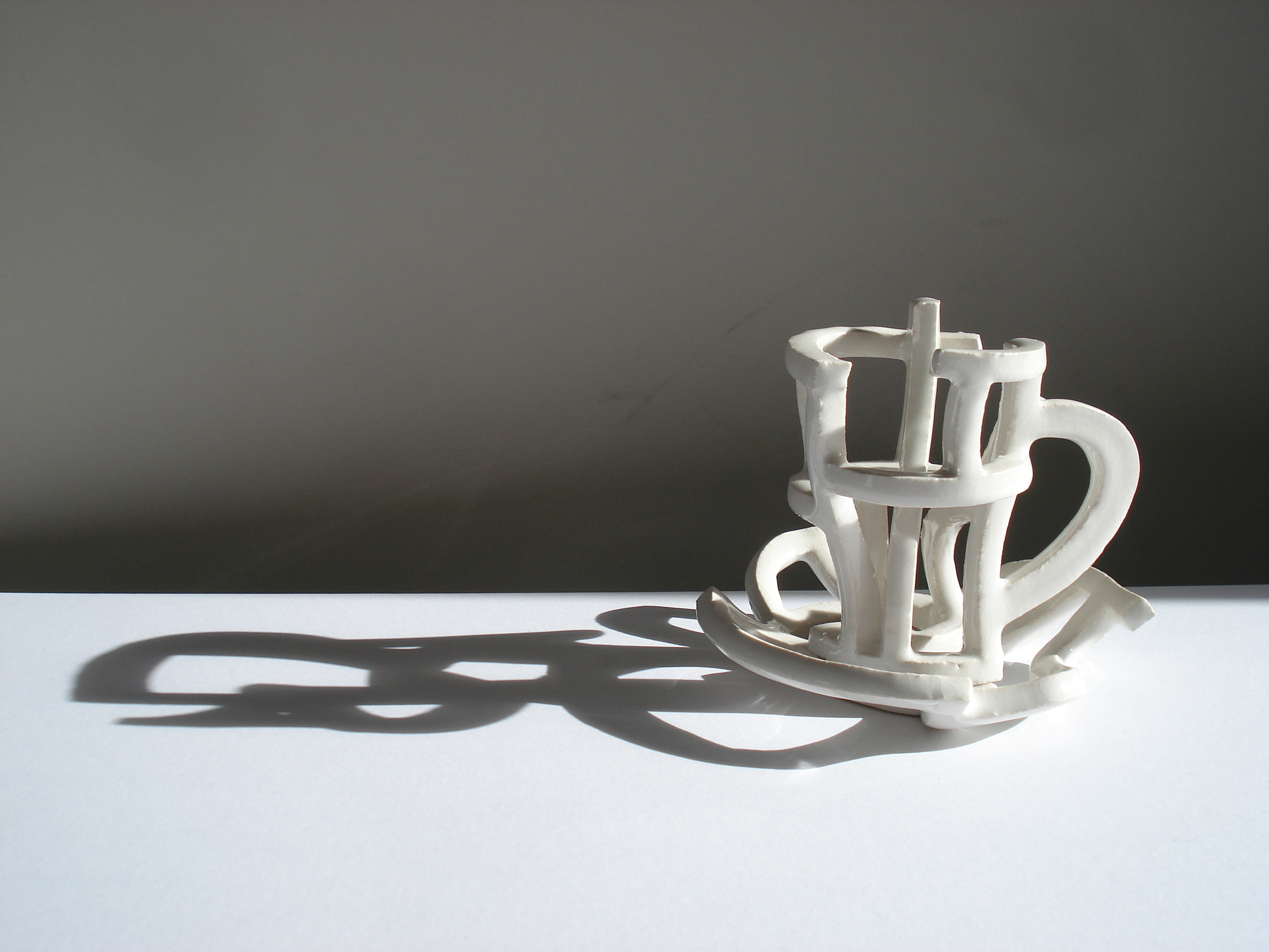 Cup and saucer,