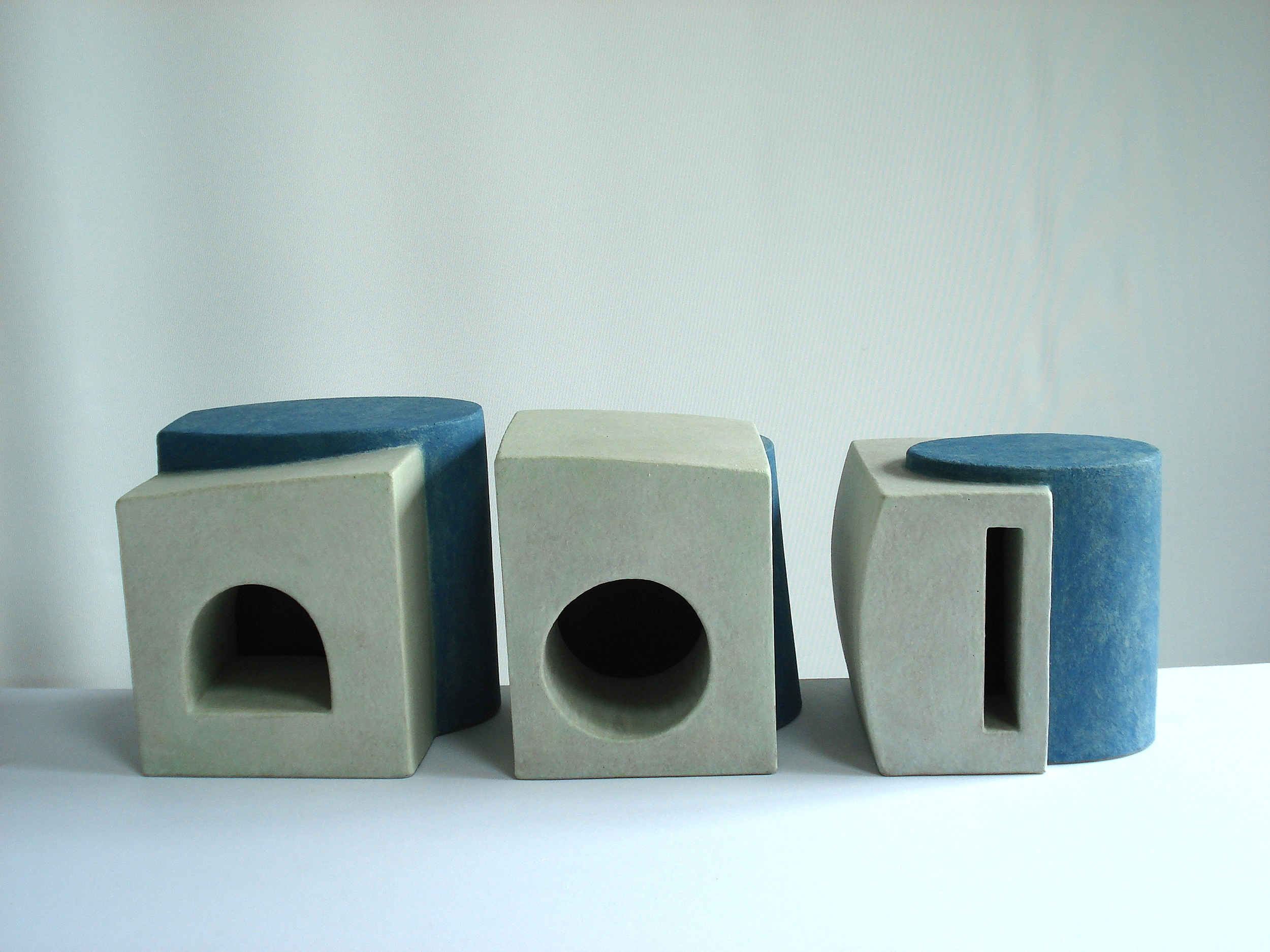Inventions I, II and III, 1998, 16cm high