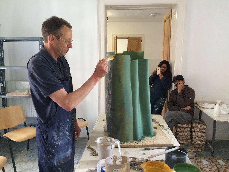 teaching. Ken Eastman. ceramic artist. British potter.