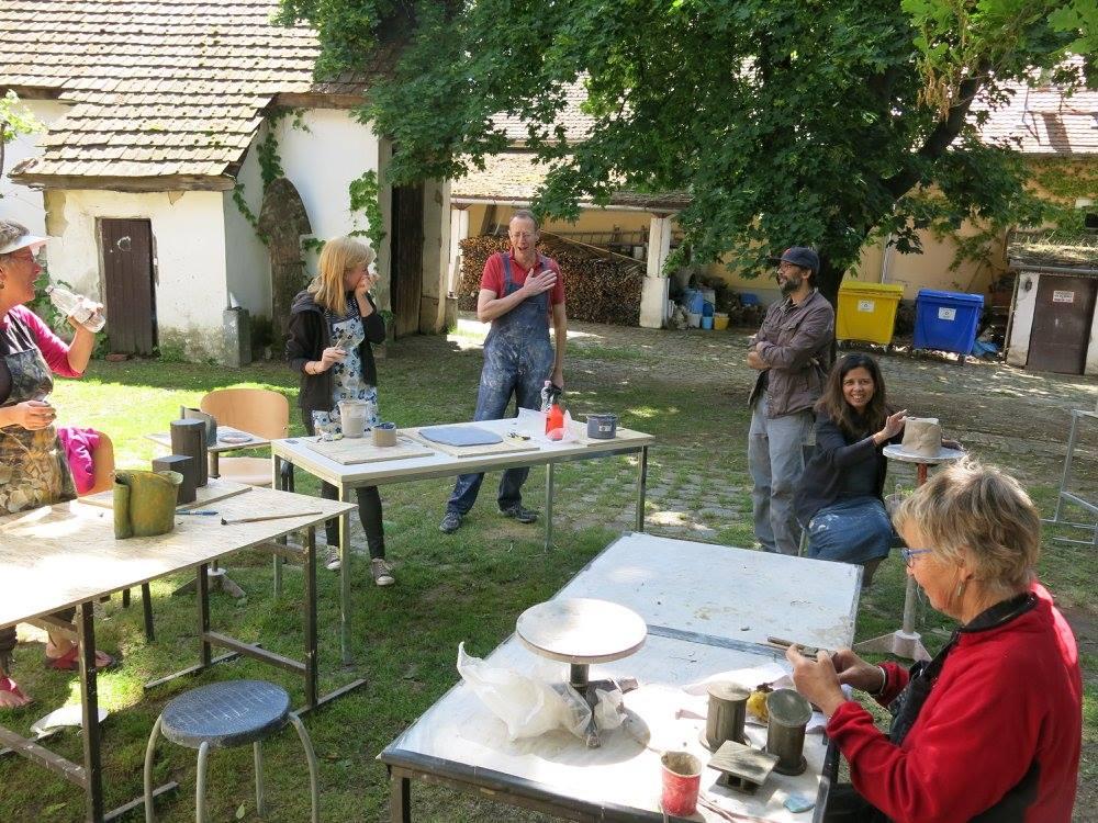teaching. Ken Eastman. Ceramic artist