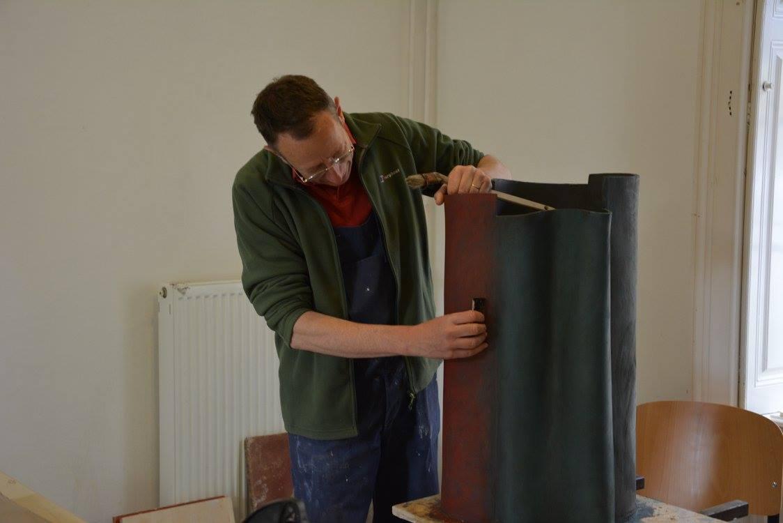 teaching. Ken Eastman. ceramic artist. British potter