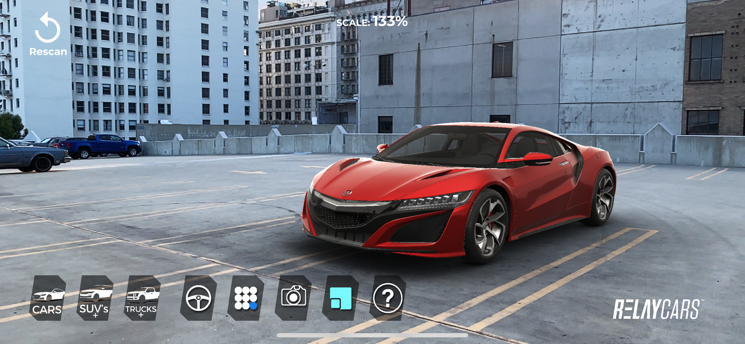 RELAYCARS AUGMENTED REALITY APP