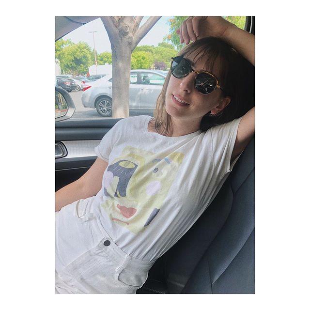Green Face Tee car lounging 👌