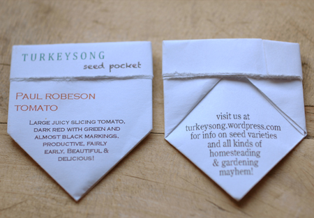 seed pockets front and back