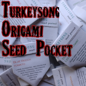 How to fold theTurkeysong origami Seed pocket