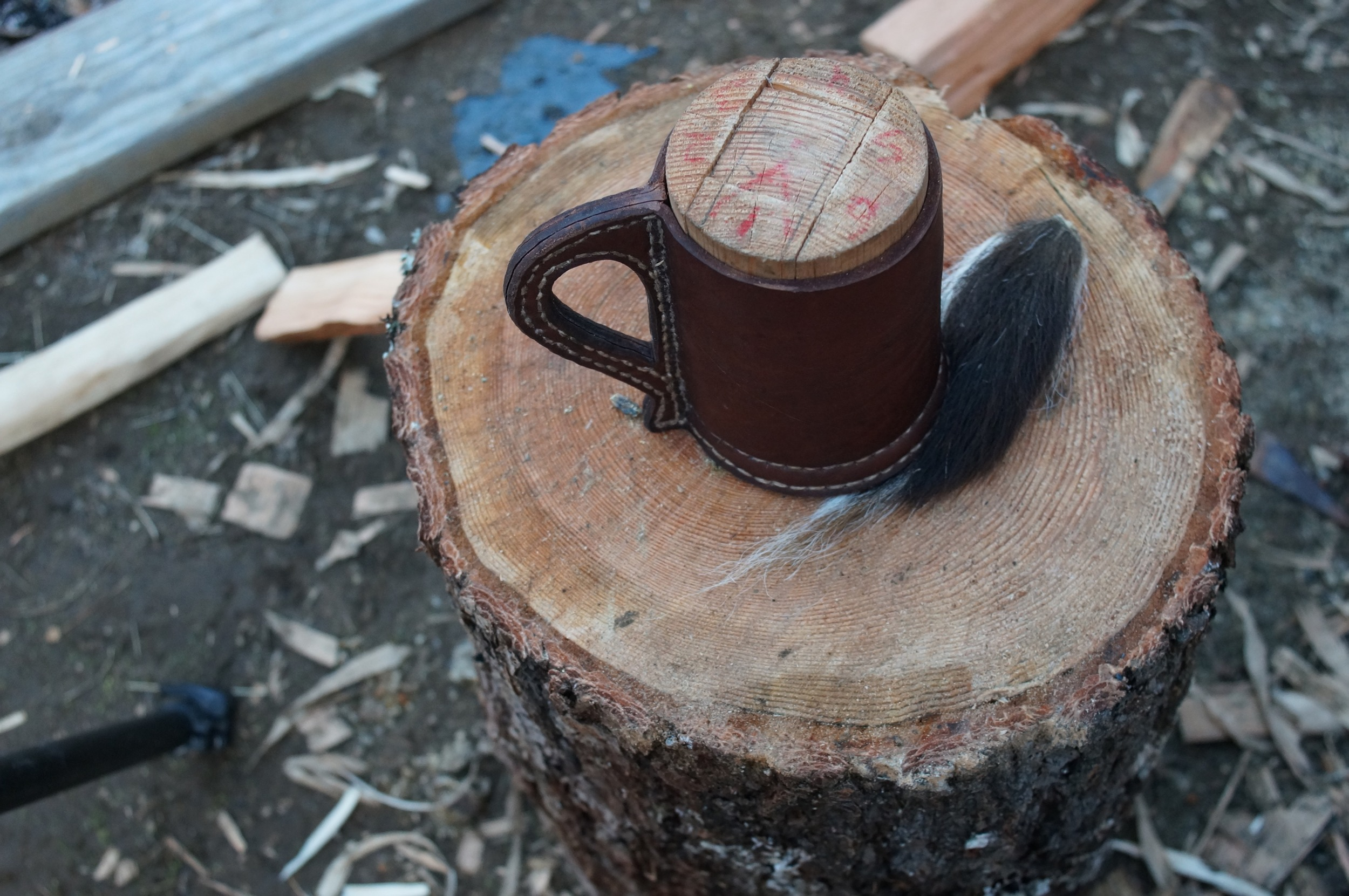 The leather mug project . My most popular video to date. Got me a massive number of views and subscribers overnight when someone shared it on Reddit. Thanks!