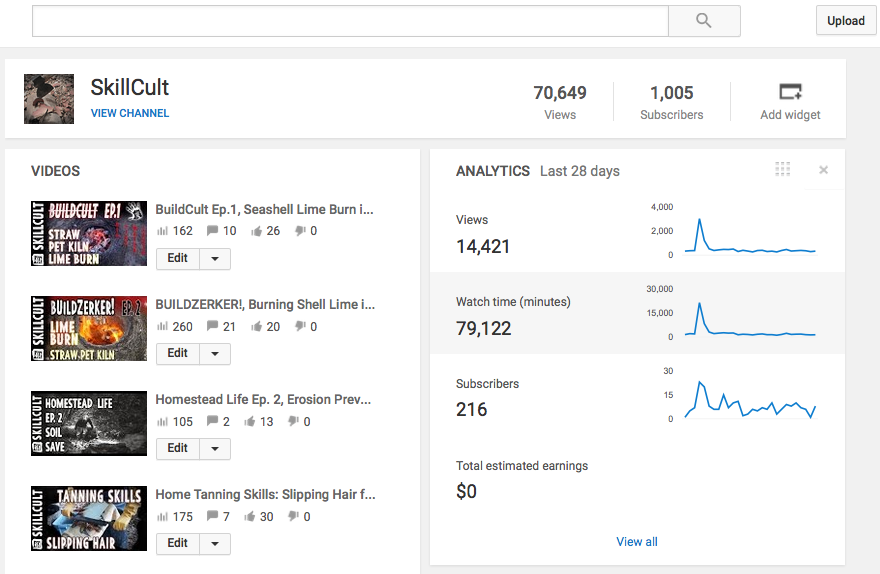 1000 subscribers on my birthday, 900 in 6 months, yay! Not a lot by YouTube standards, but a great milestone. I'm hoping for 10,000 by this time next year. I will probably have to start running ads on my videos soon sadly. There is a new YouTube subscription service though that allows you to skip them. At least there is that. This is a difficult decision for me. Random advertising is antithetical to what I'm trying to do here. But, I can't keep producing content without an income.