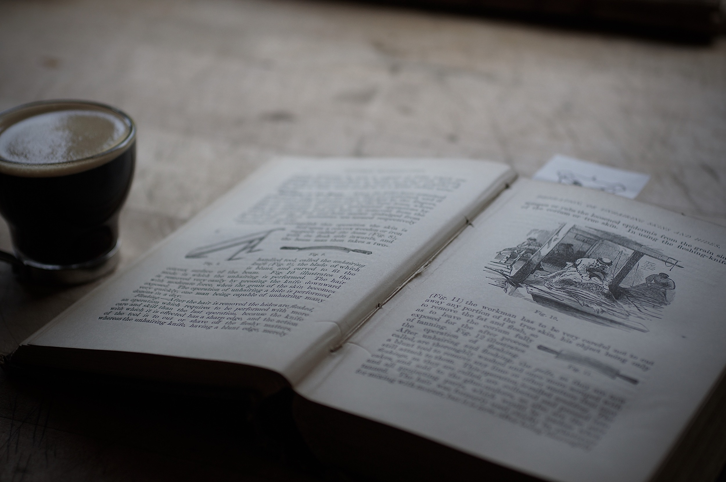 A book and an espresso :)