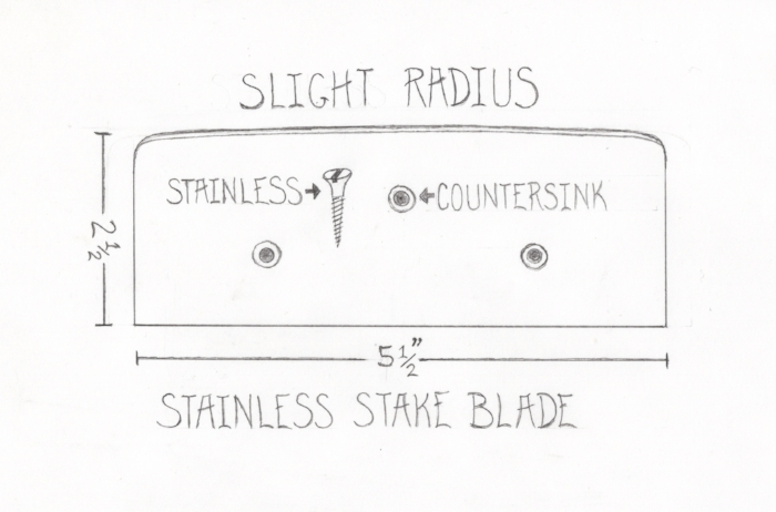 A good stake blade design for the home tanner.