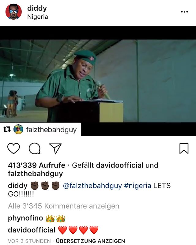 This is 🇳🇬 by @falzthebahdguy #approvedbyDiddy @diddy #thisisnigeria #lagos #falzthebahdguy ✊✊✊