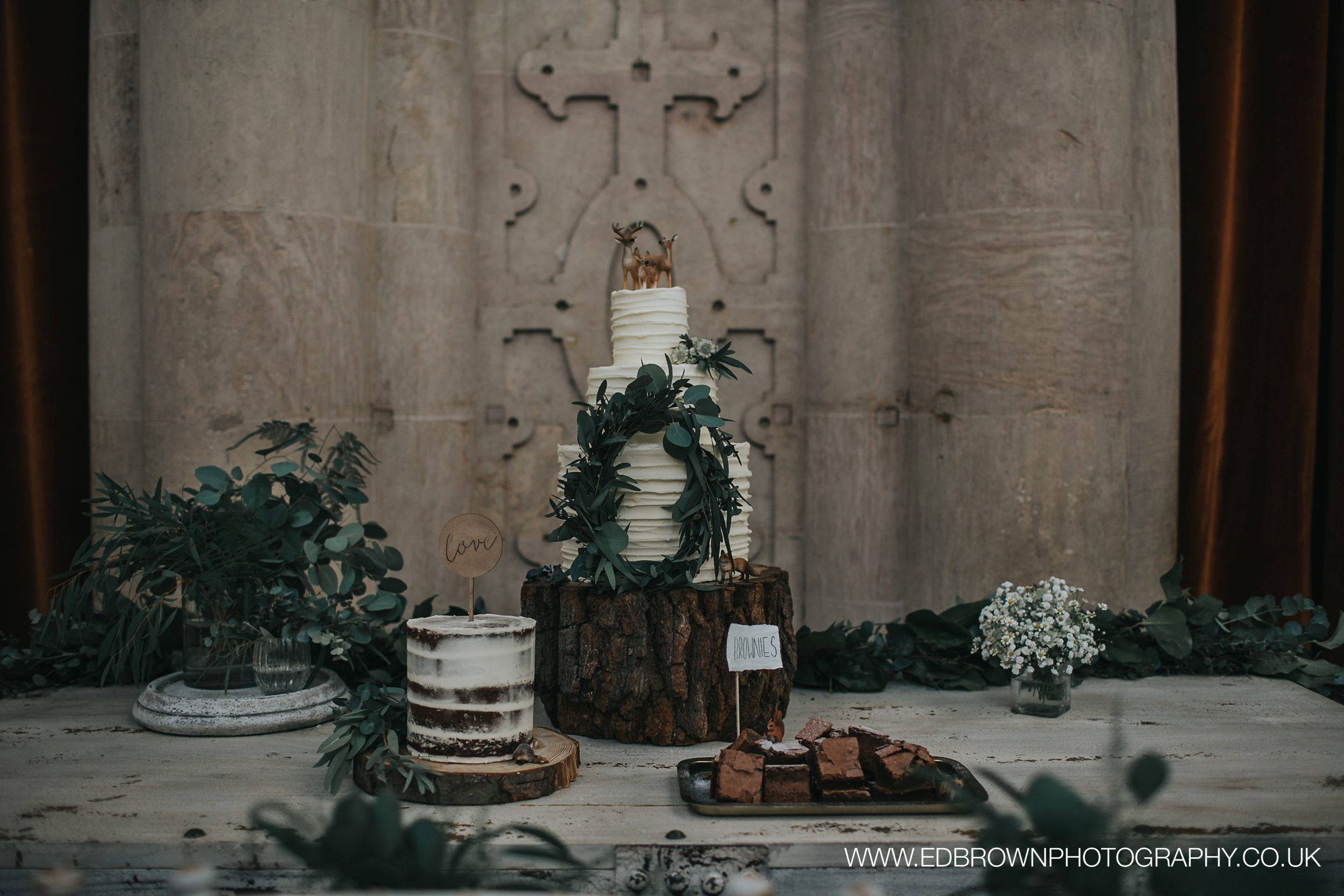 {Cake Table - Styled Shoot - Wollaton Hall} Creative & Unique Wedding Cakes | Treat tables Nottingham