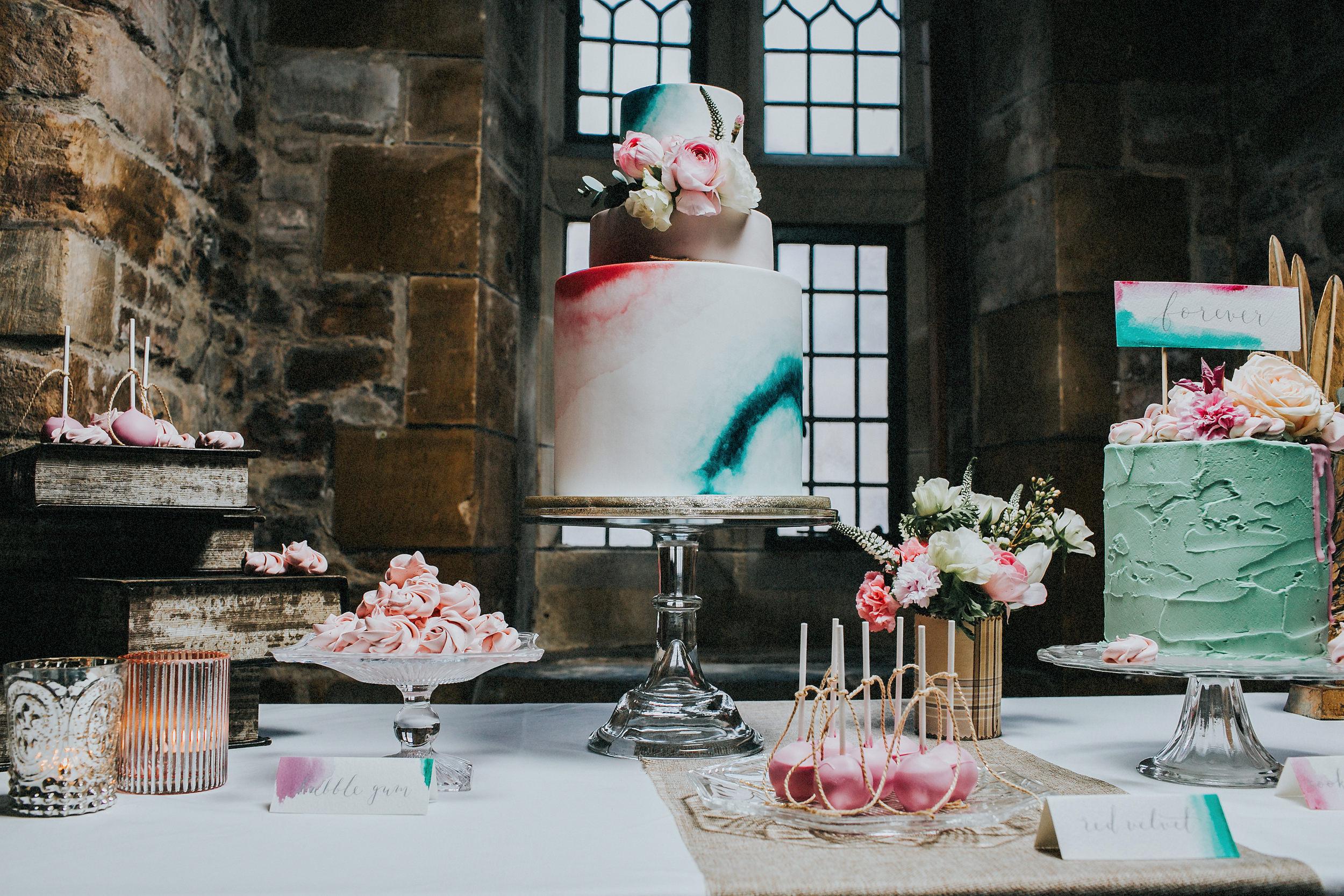 {Handpainted wedding Cakes} Creative & Unique Wedding Cakes   Unique wedding cakes Nottinghamshire