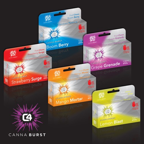 C4 Canna Burst marijuana infused edibles are available at Destination HWY 420 in East Bremerton. Great flavors available such as Berry Bomb, Grape Grenade, Lemon Blast, Mango Mortar, and Strawberry Surge. These edibles are available in THC or CBD, and Indica, Sativa, or Hybrid.