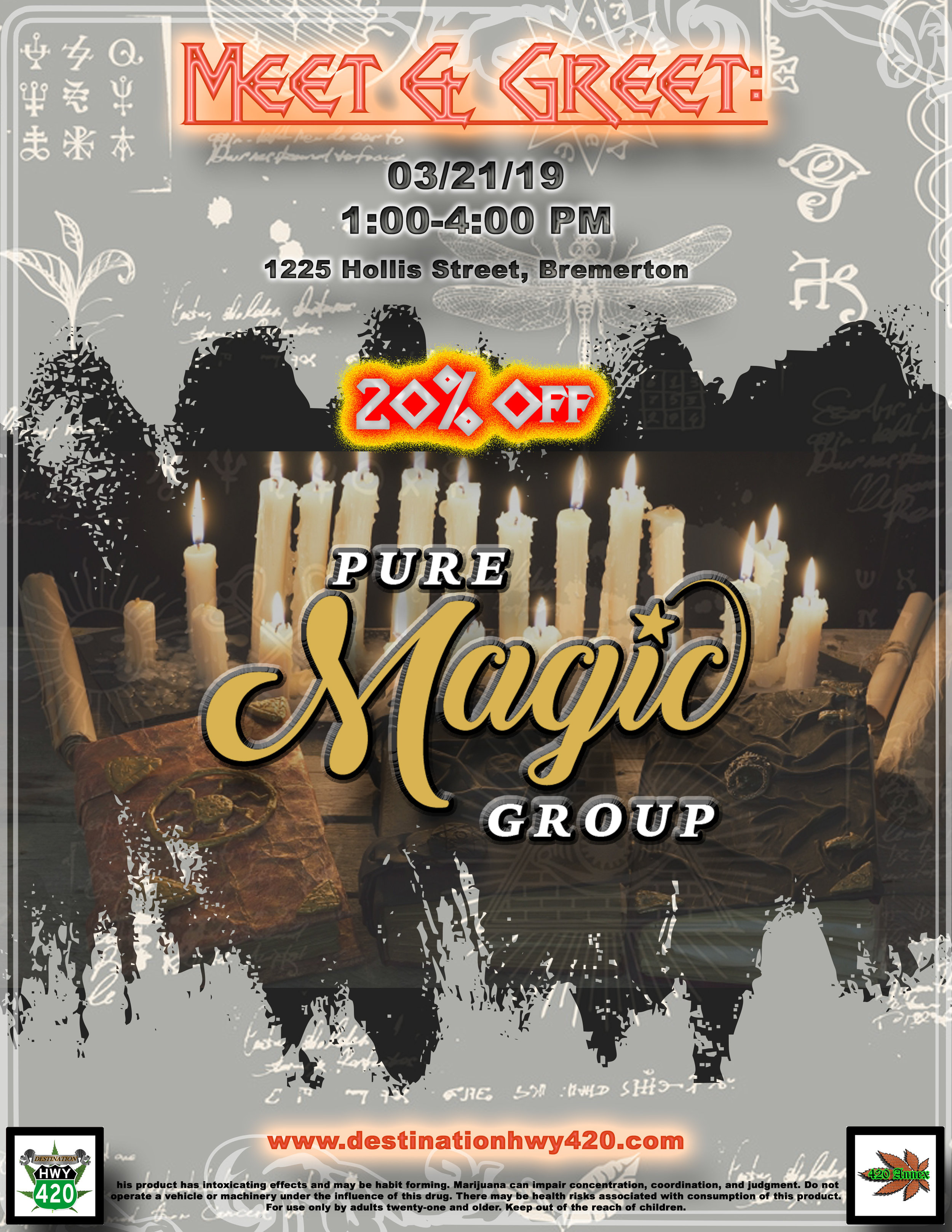 Pure Magic Group is a Tier 2 marijuana producer/processor located in Rochester, WA. Pure Magic Group produces some excellent concentrates such as their LSD Live Resin and Skunk #1 Live Resin. Pure Magic Group also produces vape cartridges with a variety of cannabis strains such as Apple Jacks, Strawberry Lemonade, and Lime OG. Pure Magic marijuana products are available at Destination HWY 420, in East Bremerton, WA.