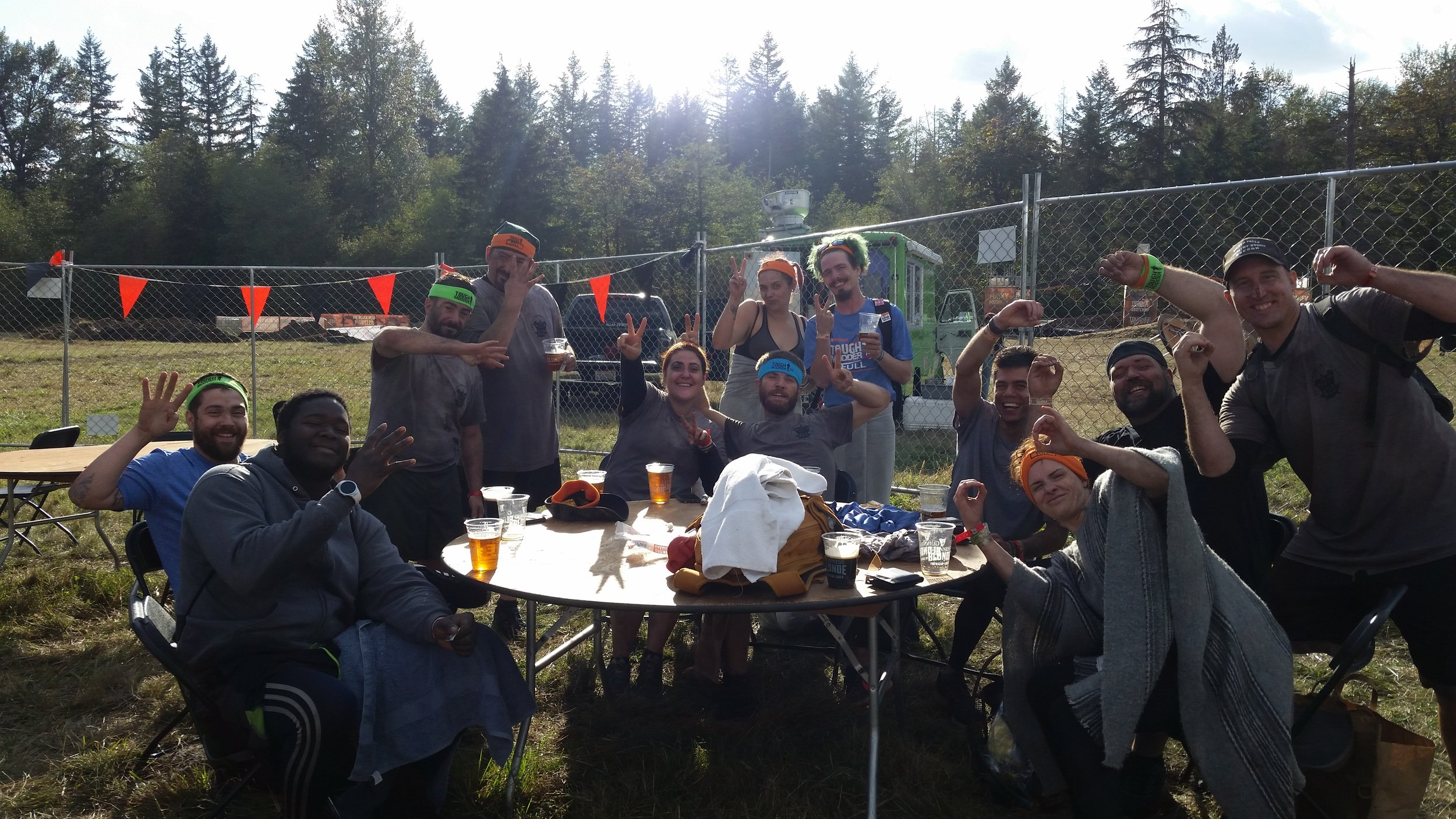 Team Destination HWY 420 after completing the 2018 Seattle Tough Mudder. Fueled by cannabis, we crushed this endurance obstacle course. We crawled through mud, swam through ice water, and even got shocked with electricity, but none of these obstacles were able to keep us away from the finish line.