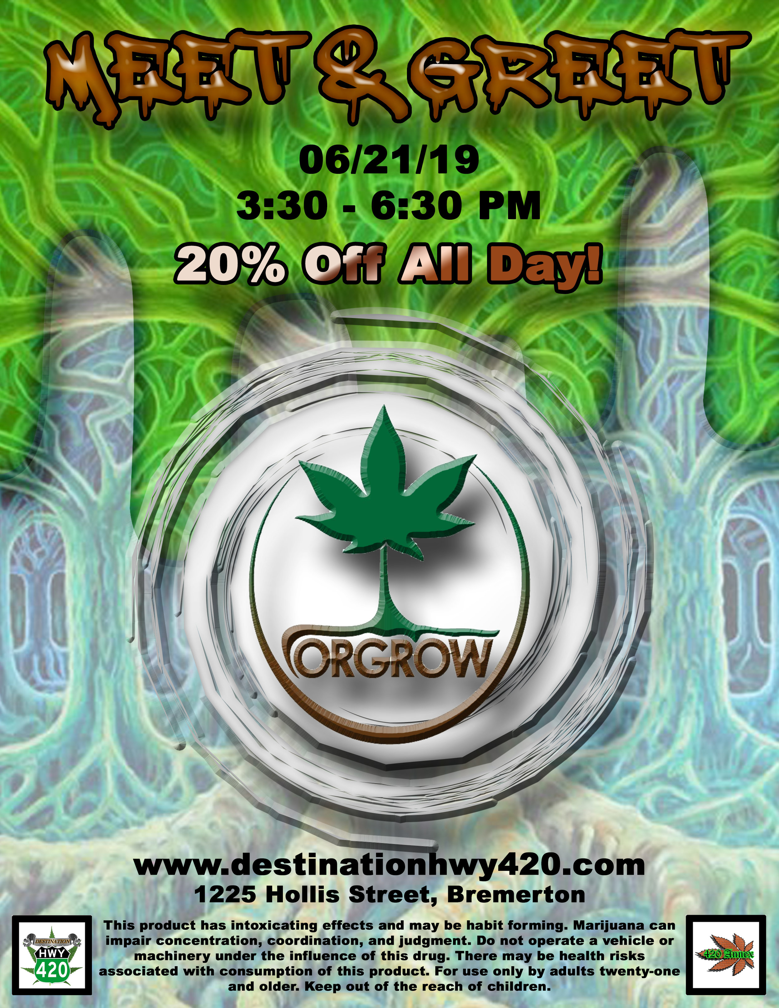 Orgrow is a Tier-3 marijuana producer/processor based out of Yakima Valley, WA. Orgrow produces marijuana flower, prerolled joints, infused joints, edibles, and concentrates. Orgrow products are available at Destination HWY 420 Bremerton!