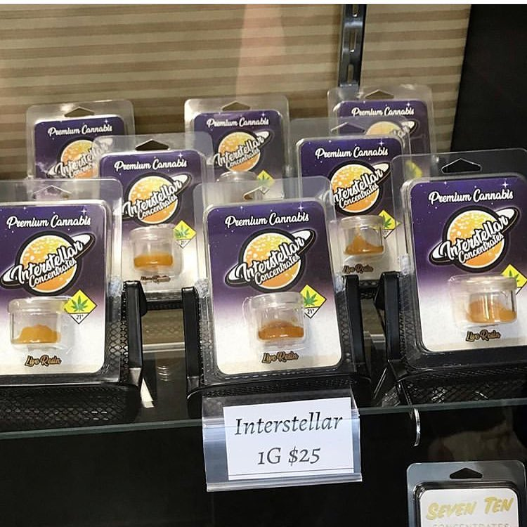 Interstellar Concentrates dabs on display.  Live Resin, high potency, complex flavor, smooth, and all-around amazing cannabis concentrates.  Interstellar Concentrates products are now available at Destination HWY 420 Bremerton.