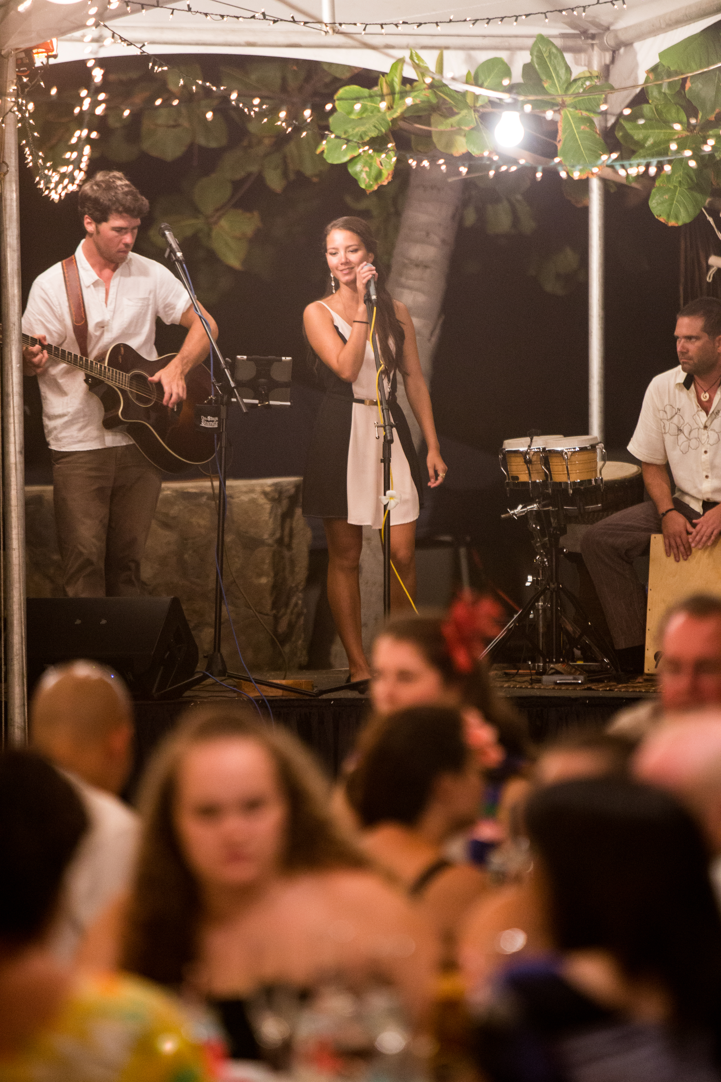 """""""My husband and I actually tried to stretch out the wedding so we could listen to the band longer, they were that good!""""     -  Briana & Jeff (Wedding, Oahu, Summer 2013)"""