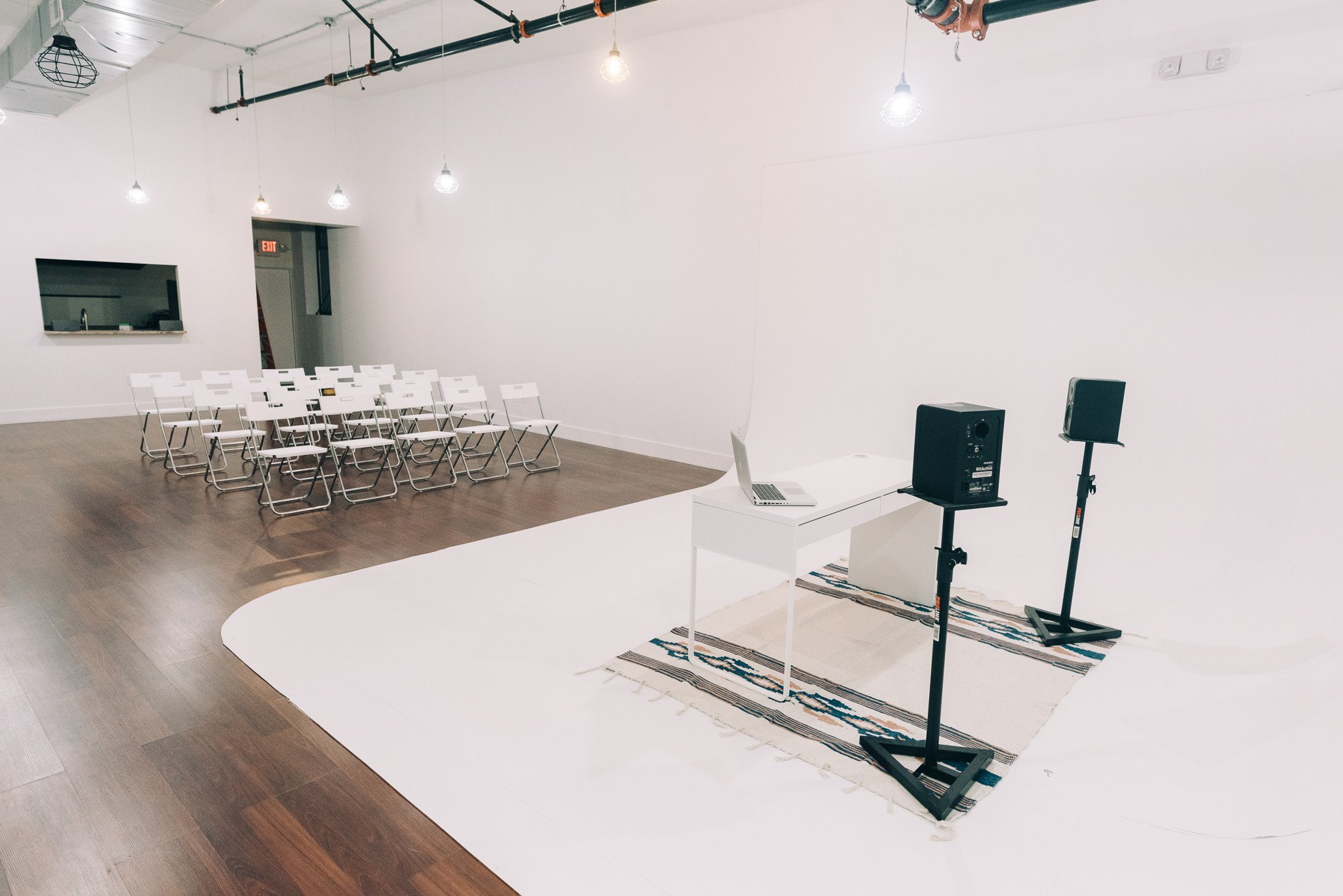 The Hall - Transform our space for talks, screenings and workshops.