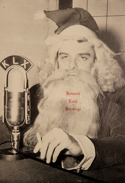 Howard KLX radio Christmas card