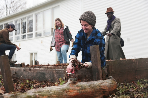 Students work on the farm at Sterling College, VT. Photo via  Flickr  under  CC BY 2.0