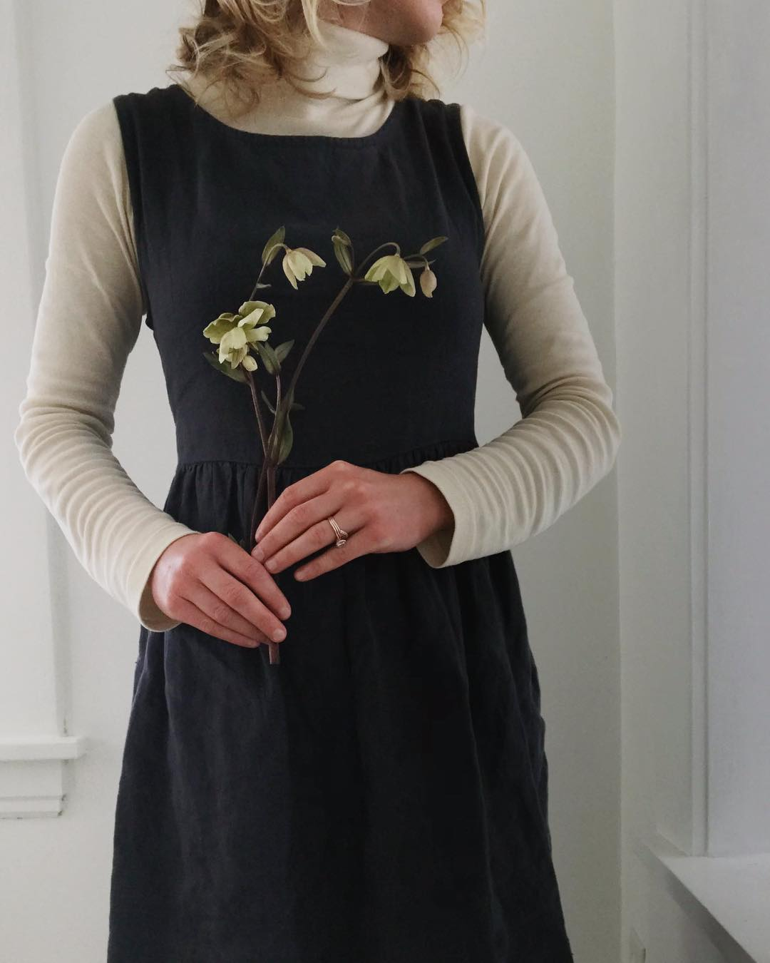Not Perfect Linen  dress,  KOTN  turtleneck