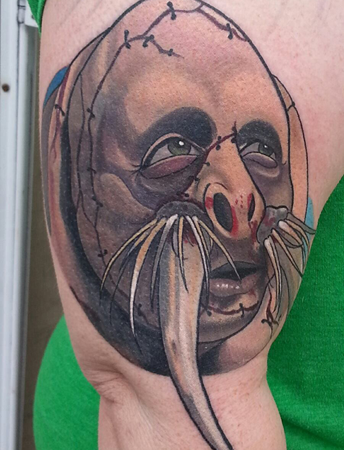 kultureshock801   Mr. Tusk caricature today! Super fun. Thanks for looking