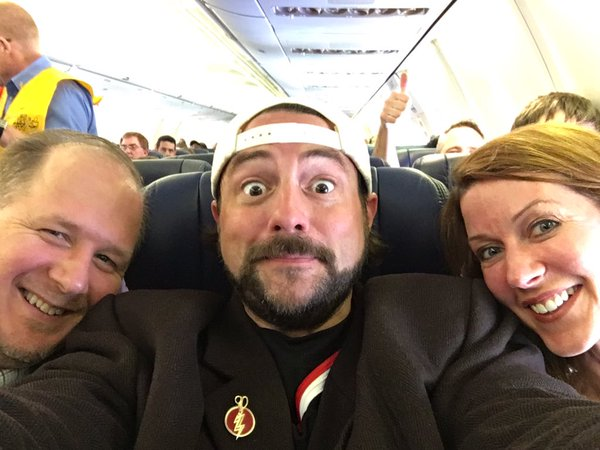 Me & me seat-mates on this crowded-as-fuck flight are ready for departure, @SouthwestAir! So far, no fat complaints!