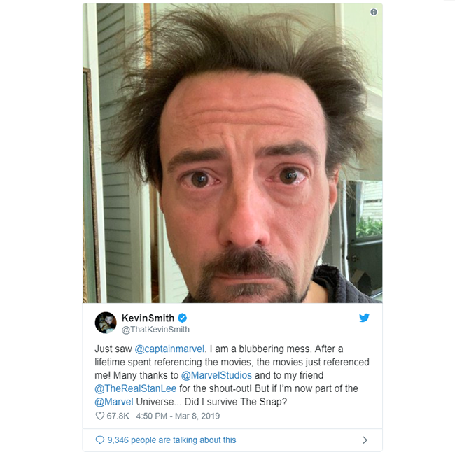 Kevin Smith Comments On Stan Lees Captain Marvel Cameo Spoilers