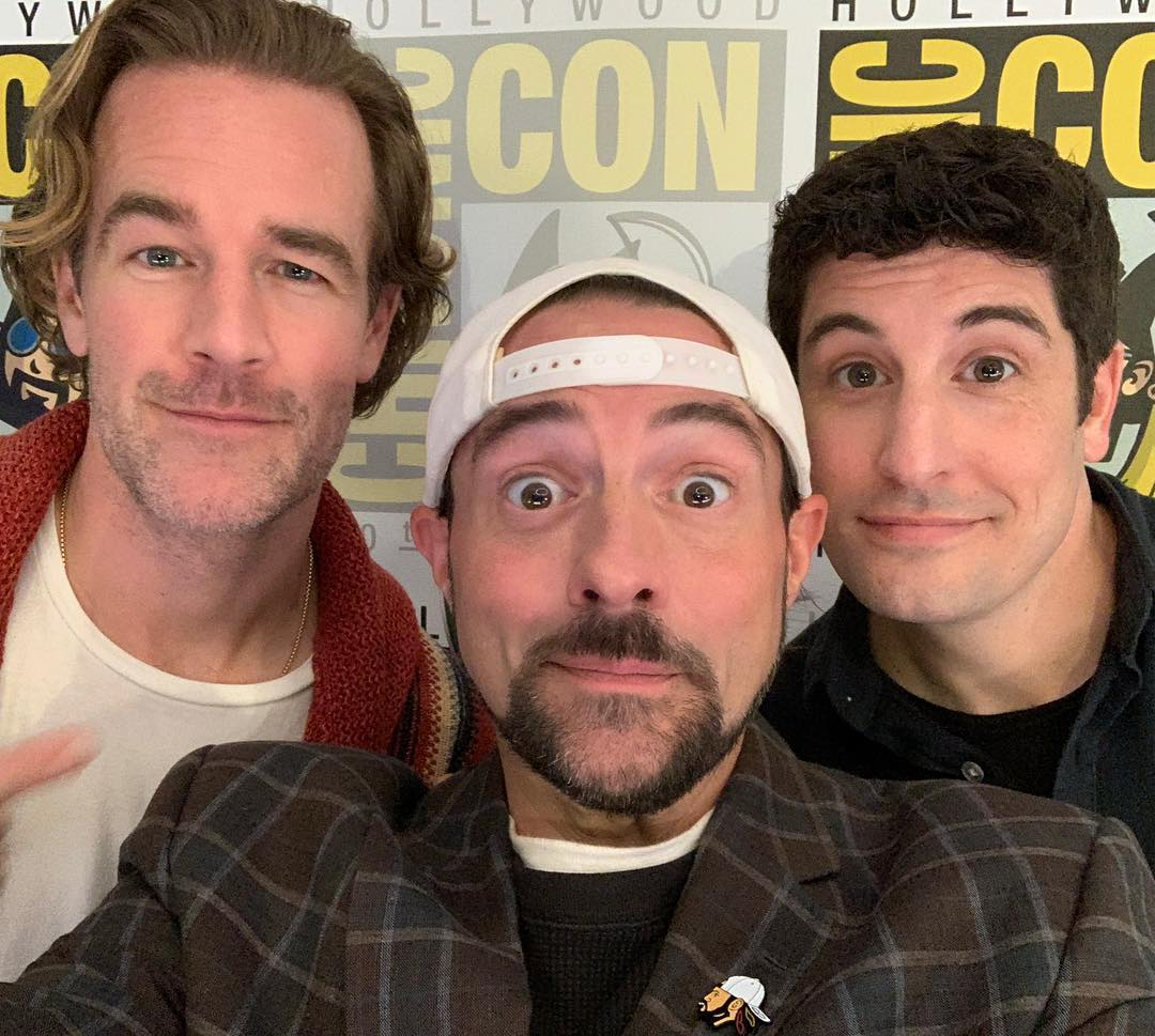 James Van Der Beek, Kevin Smith, and Jason Biggs
