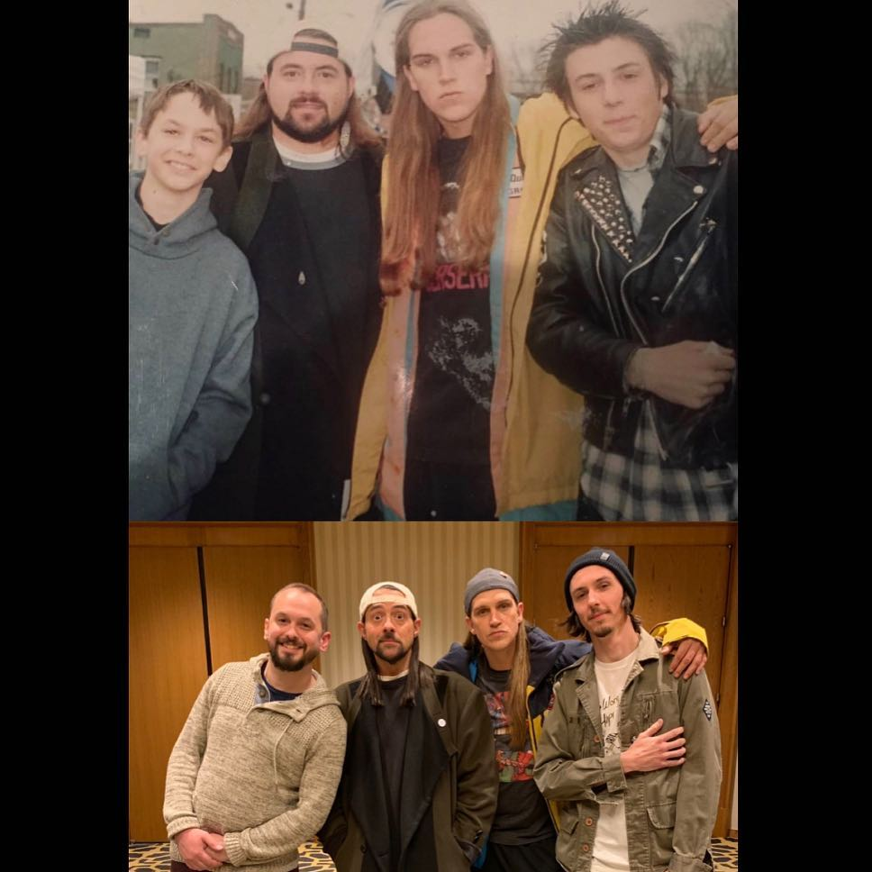 Nick Fehlinger, Kevin Smith, Jason Mewes, and Jake Richardson